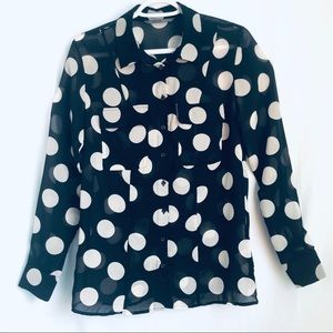SMARTSET Polka Dot Top